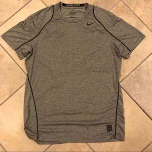 Nike dri-fit gray short sleeve